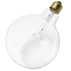 40-Watt 120V Medium Base G40 Light Bulb, Clear