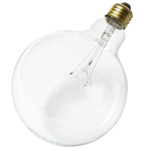 Satco S3011 120V Medium Base 40-Watt G40 Light Bulb, Clear